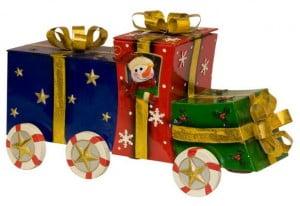 Новогодние упаковки из жести, картона и пластика