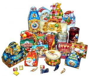 Купить новогоднюю детскую упаковку для подарков оптом