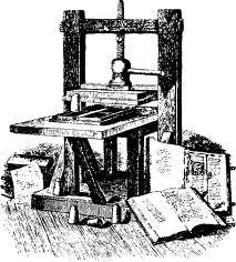 Купить печатный станок, изобретатель Гутенберг