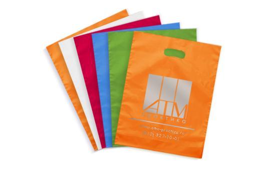 Дешевая печать на полиэтиленовых пакетах майках