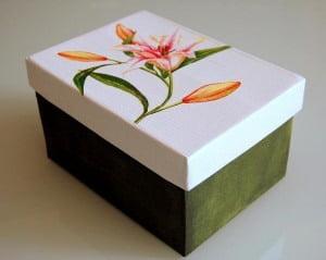 Декупаж картонных коробок для упаковки, Спб