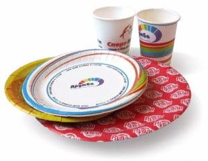 Купить одноразовую бумажную посуду, производство