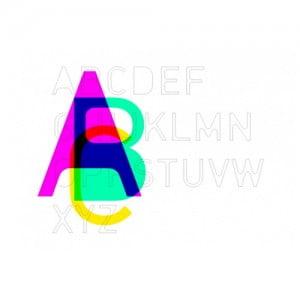 Печатные буквы английского и русского алфавита