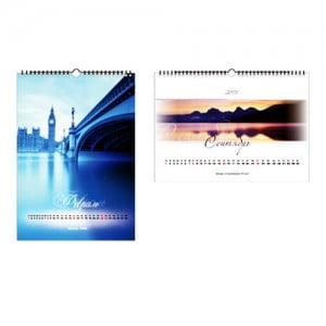 Изготовление пластиковых настенных перекидных календарей