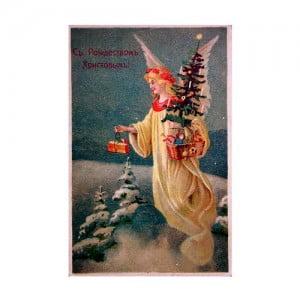 Старые красивые рождественские открытки