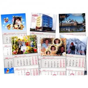 Заказать квартальный календарь со своими фотографиями