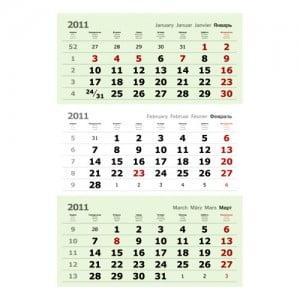 Печать и изготовление блоков для квартальных календарей