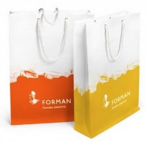 Производство по изготовлению бумажных пакетов с логотипом