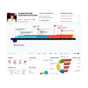 Образцы и примеры резюме в виде инфографики